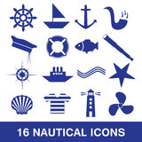 Nautical icon collection eps10 Stock Photo