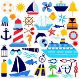 Nautical icon set Stock Images