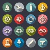 Nautical icon set royalty free illustration