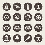 Nautical icon set royalty free illustration