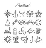 Nautical Icon Set Royalty Free Stock Photos
