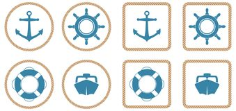 Free Nautical Icons Royalty Free Stock Photography - 14761217