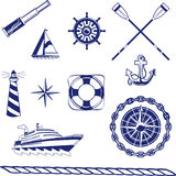 Nautical Icons Royalty Free Stock Photo