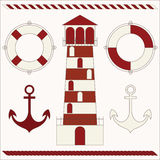 Nautical icons Stock Image