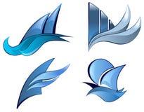 Nautical icons Stock Photography
