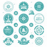 Nautical  icons. A vector illustration of nautical icons Royalty Free Stock Images