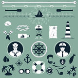 Nautical Icons, Royalty Free Stock Photography