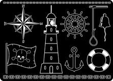 Nautical Icons royalty free illustration