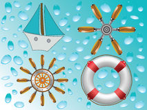 Nautical icons collection Royalty Free Stock Image