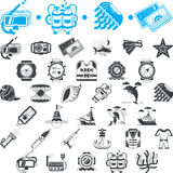 Nautical icons collection Royalty Free Stock Photo