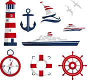 Nautical icons Royalty Free Stock Photos