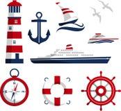 Nautical icons Royalty Free Stock Photos