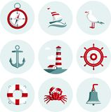 Nautical icons vector illustration