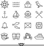 Nautical icons Stock Images