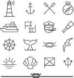 Nautical icons Stock Photography