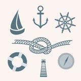 Nautical Icons Stock Photo