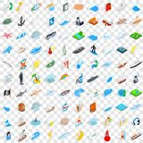 100 nautical icons set, isometric 3d style. 100 nautical icons set in isometric 3d style for any design vector illustration Royalty Free Stock Photo