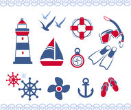 Nautical icons Royalty Free Stock Image