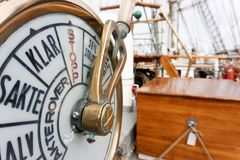 Nautical instrument on tallship royalty free stock photography