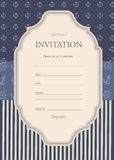 Nautical Invitation vector Royalty Free Stock Photography