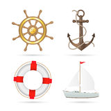 Nautical Items Illustration Royalty Free Stock Images
