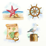 Nautical items Stock Images