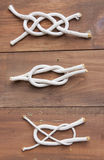 Nautical knot examples Royalty Free Stock Image