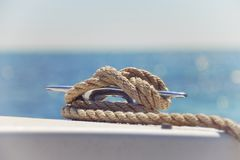 Nautical Knot on a Boat Royalty Free Stock Image