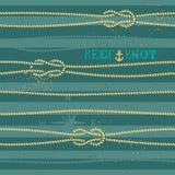 Nautical knot seamless pattern Royalty Free Stock Image