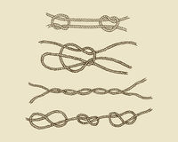 Nautical knot set Stock Image