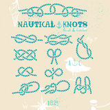 Nautical knots set Royalty Free Stock Images