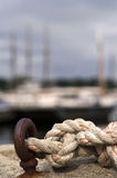 Nautical knotted rope Royalty Free Stock Photos