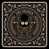 Nautical the kraken retro card Stock Images