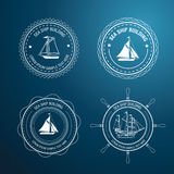 Nautical label Royalty Free Stock Photography