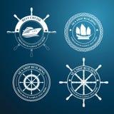 Nautical label Stock Photo