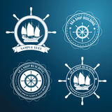 Nautical label Royalty Free Stock Images