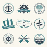 Nautical labels Royalty Free Stock Images