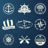 Nautical labels Stock Photo