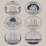 Nautical labels Stock Photos