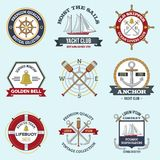 Nautical Labels Set Stock Photography