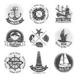 Nautical Labels Set vector illustration