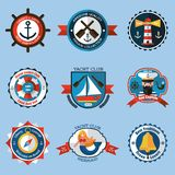 Nautical Labels Set Stock Photos