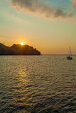 Nautical Landscape of Komodo Island with Boat Stock Photos