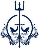 Elegant Nautical logo in blue tones Stock Photography