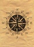 Nautical Logo on kraft paper background. Marine Label, Sea Badge Royalty Free Stock Photos