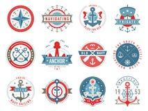 Nautical logo template set vector illustration