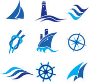 Nautical Logos And Icons Royalty Free Stock Images