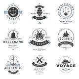 Nautical Logos Templates Set. vector illustration