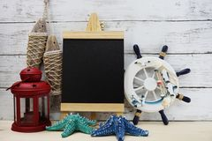 Free Nautical Marine Decoration With Space Background Stock Photography - 120633442