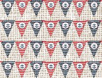 Nautical or marine flags themed pattern Stock Images